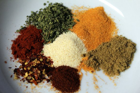 Colorful spices for Cape Malay Cooking