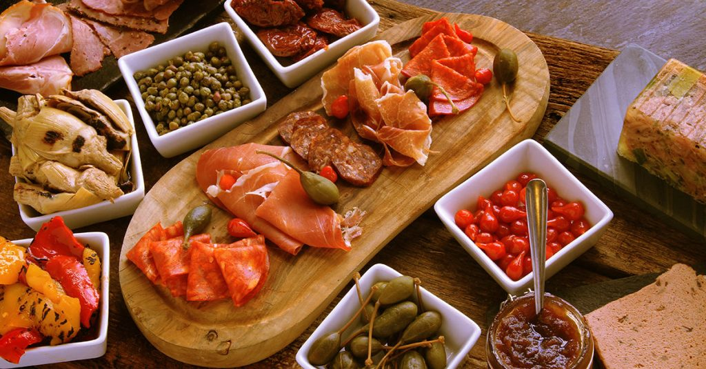 Antipasti and Wine in the Cape Winelands